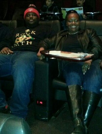 Movie Tavern Providence Town Center: Having a ball with my son. Love this place, very comfy and great deal.