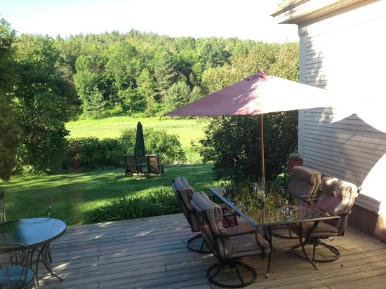 The Woodbridge Inn: Back Deck