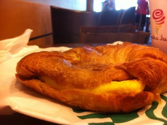 Starbucks : Boo hoo ham and cheese breakfast crossaint:( Not worth $4
