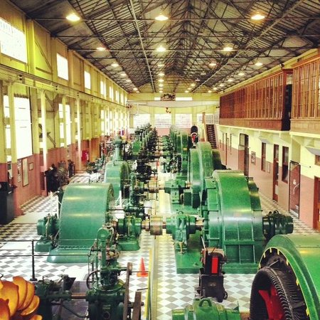 A view over the main floor of the Waddamana Power Station Museum
