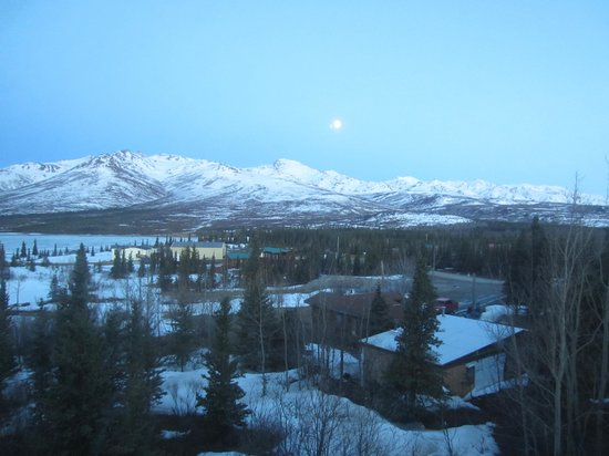 Denali Lakeview Inn: Night view