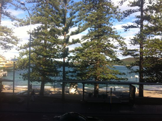 Quest Manly: view from our room. (photos a little dark as it was taken on iPhone)