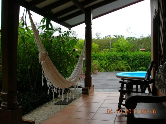 Las Islas Lodge : Hammock of room #1 and pool