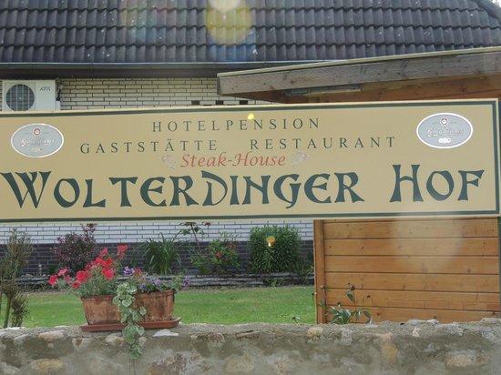 Wolterdinger Hof: Hotel sign