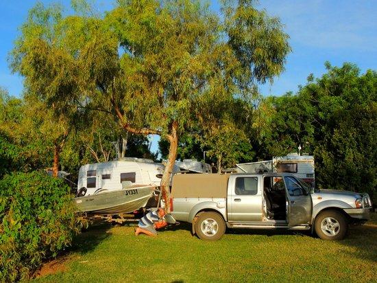 Lakeside Resort Kununurra: Our lake side site