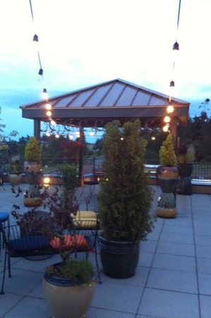 Holiday Inn Express Hotel & Suites North Sequim: rooftop patio what a surprise