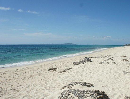 Nagamahama Beach Coast: 満潮から1時間後のビーチ