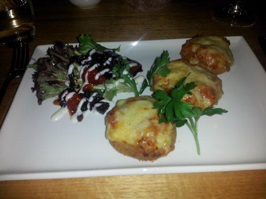 Xanders Brasserie: delicious eggplant parmigiana