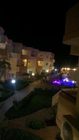 Menia Beach Hotel: udsigten fra altan på værelse 217