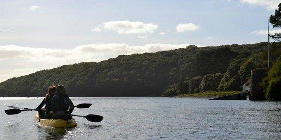 Helford, UK: Tandem kayak