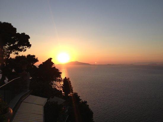 Caesar Augustus Hotel: Great sunset