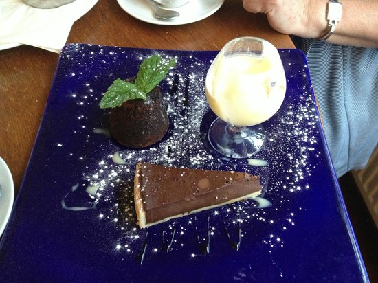 The Lime House: The 'Chocolate Trio' pudding