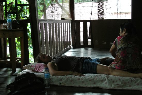 Baan SongJum Wat Ket: massage service at the varanda, cheap and  privacy.