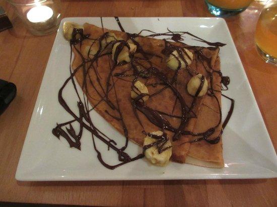 Apres la Pluie : Crêpe banane chocolat