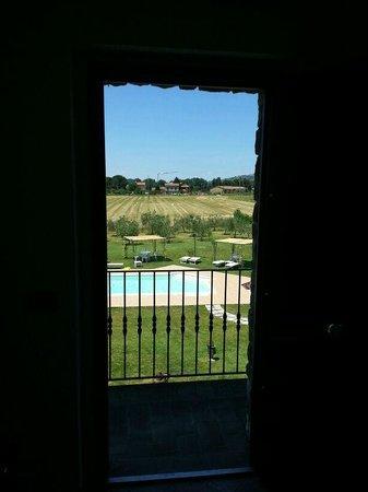 Villa Barbarossa: La vista uscendo dalla camera