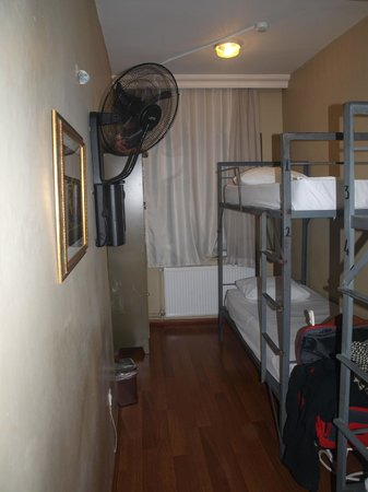 Nobel Hostel: our 4 bed room