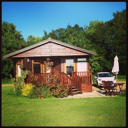 Athelington Hall Log Cabin Holidays: oak 4 lodge