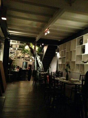 Living Room: Bar and waiter