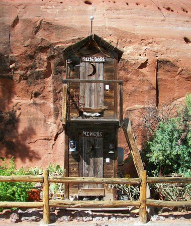 Hole 'N the Rock: Humorous Outhouse