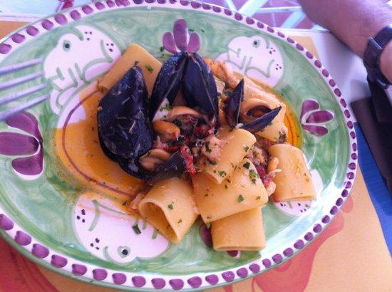 Le Gatte : Paccari con baccalà e cozze esageratamente buoni
