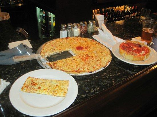 Pizano's Pizza & Pasta: Thin crust and deep dish pizza.