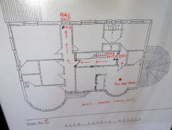 Brook Manor Lodge: Map of the second floor