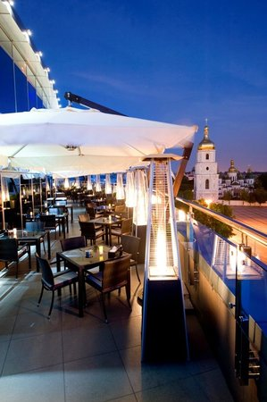 Hyatt Regency Kiev: Bar on 8 terrace