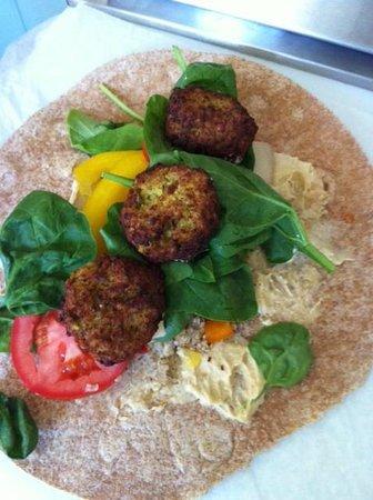 Mojo Health Bar : Falafel Wrap