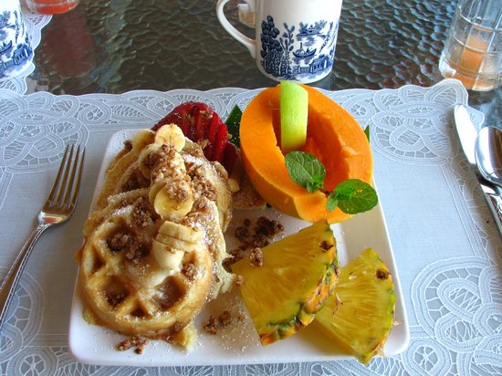 Areca Palms Estate Bed and Breakfast : Yummy breakfasts