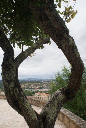 Hotel dos Templarios: L'hôtel vu depuis le château