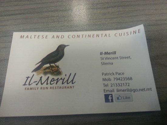 Il-Merill : Business card