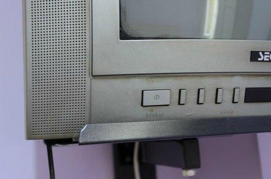 Anadolu Hotel : particolare dello sporco sulla tv