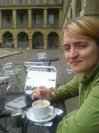 The Piece Hall: great spot for a cup of tea too...