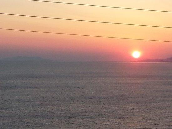 Aegean Hotel: ..il tramonto dal mio balcone..