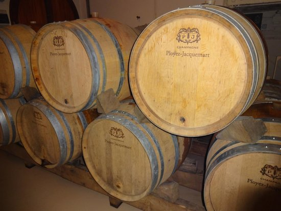 Domaine Champagne Ployez-Jacquemart : Just a glimpse of the barrels when you start the tour!