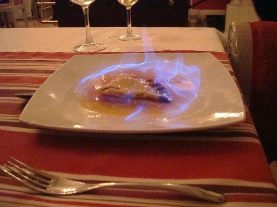 TRS Turquesa Hotel: la Chanterelle - crepes suzette