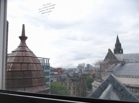 The Midland: view from small high window on 6th floor