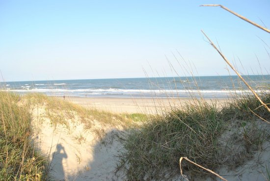 Ocracoke Campground - View from dune path at our site