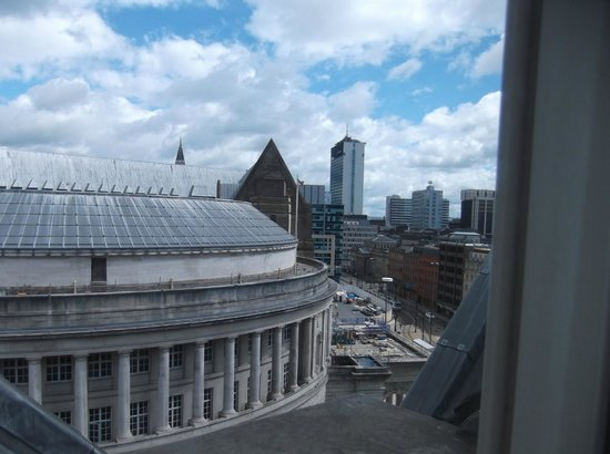 The Midland: view from window of central libray which is directly infront of hotel