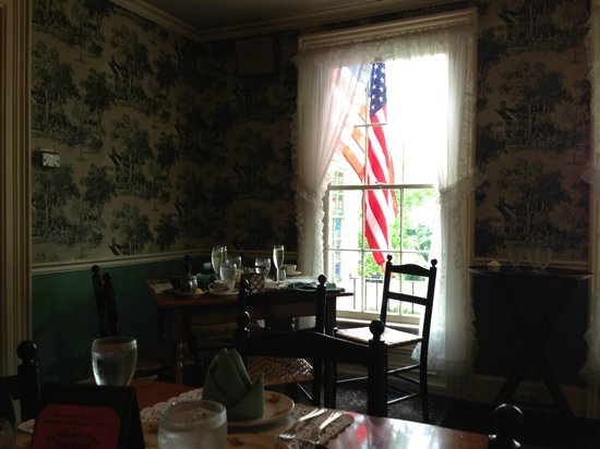 The Holloway House: It really is just an old house, the wallpaper is even peeling on the humid day.