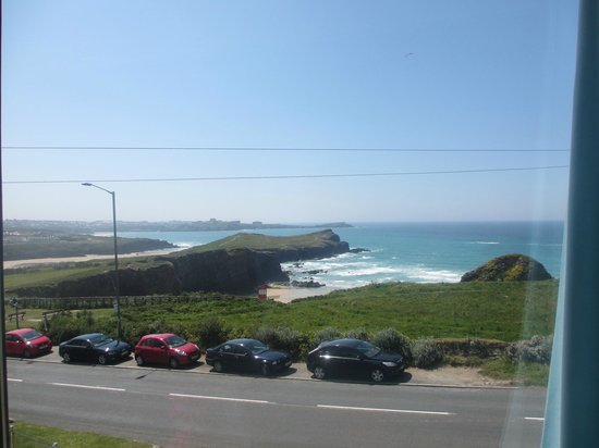Porth Cove: View from 4-poster room