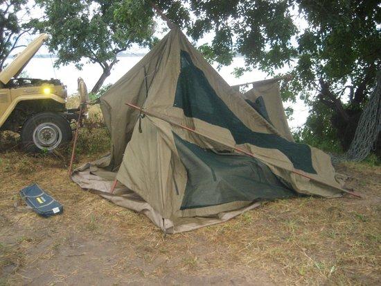 Zimbabwe: collapsed tent