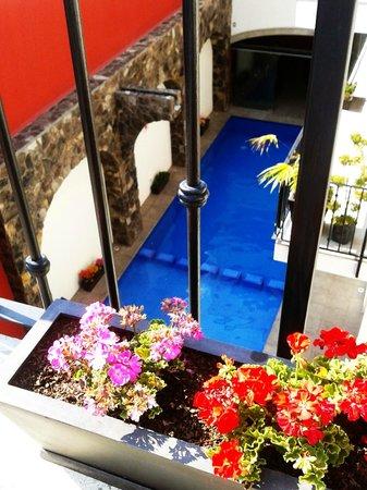 Hotel San Xavier: Vista panorámica de la alberca