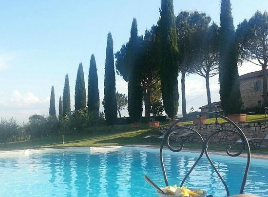 Casale di Brolio: View from the pool deck