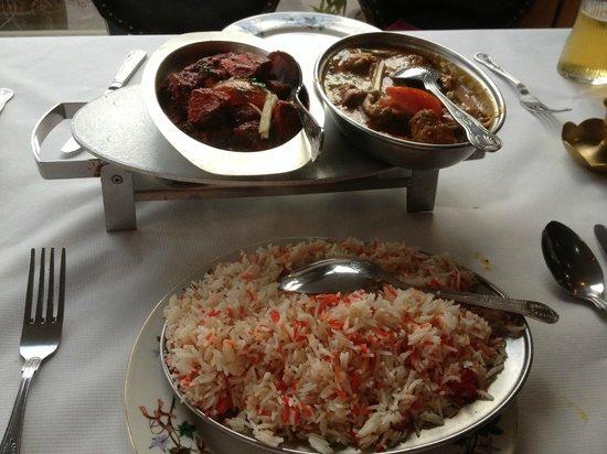 The Great Kathmandu: Lamb Khorsani, Chicken Chandane Dry Fry and Rice