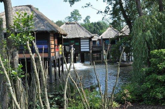 Pairi Daiza: reproduction d'une cité lacustre africaine