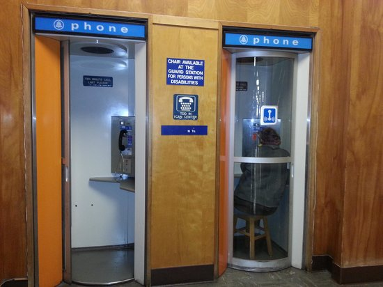 San Diego Central Library: Coolest phone booths...ever!
