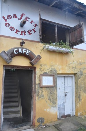 Loafer's Corner cafe: Find Loafers up a flight of stairs