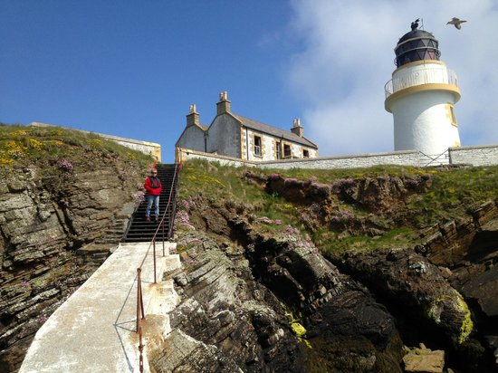 Visit to Helliar Holm with Stevenson Lighthouse built 1892 before lunch at The Smithy