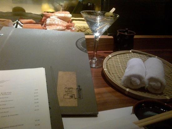 Blue Ribbon Sushi: at the sushi bar
